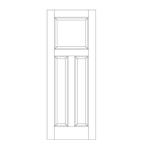 3-Panel Wood Door (DR3080)