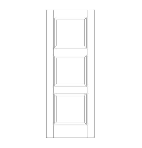 3-Panel Wood Door (DR3090)