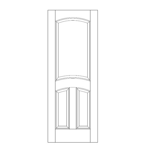 3-Panel Wood Door (DR3110)