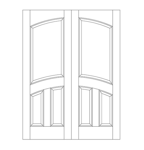 3-Panel Wood Door (DR3110CA)