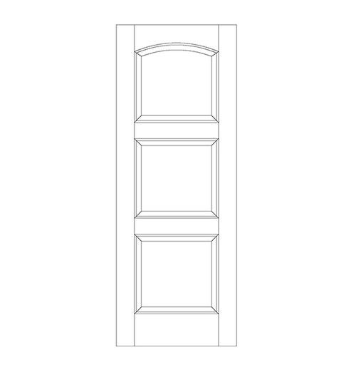 3-Panel Wood Door (DR3190)