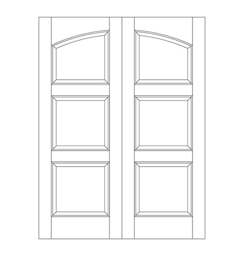 3-Panel Wood Door (DR3190CA)