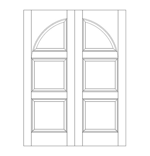 3-Panel Wood Door (DR3290CA)