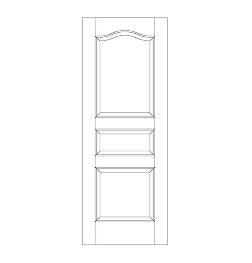 3-Panel Wood Door (DR3300)