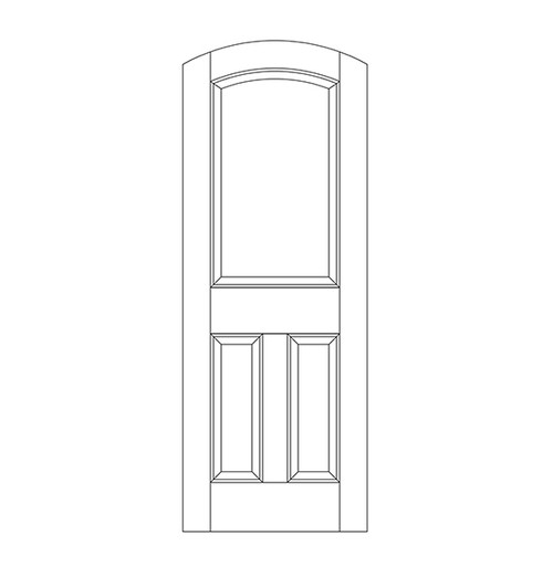 3-Panel Wood Door (DR3500)