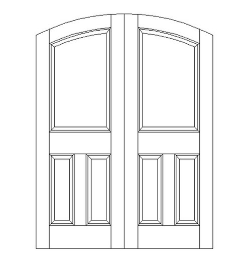 3-Panel Wood Door (DR3560CA)