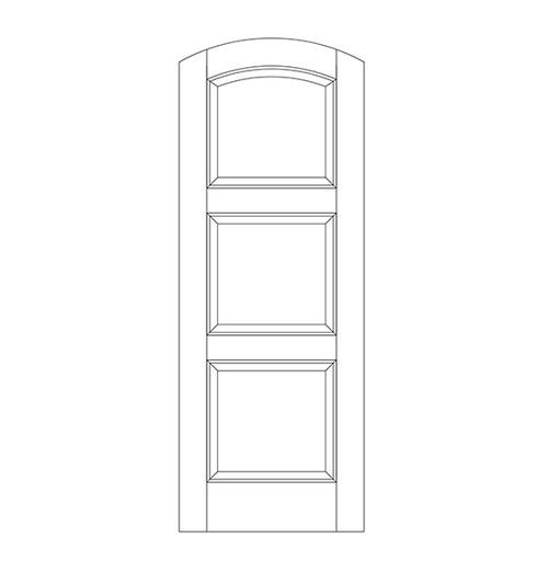 3-Panel Wood Door (DR3590)