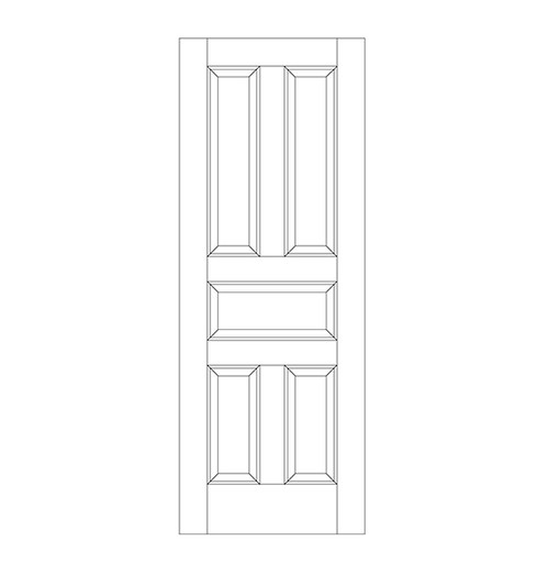 5-Panel Wood Door (DR5000)