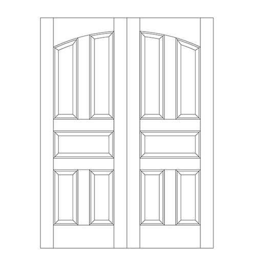 5-Panel Wood Door (DR5100CA)