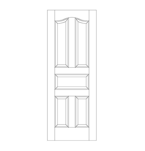 5-Panel Wood Door (DR5300)