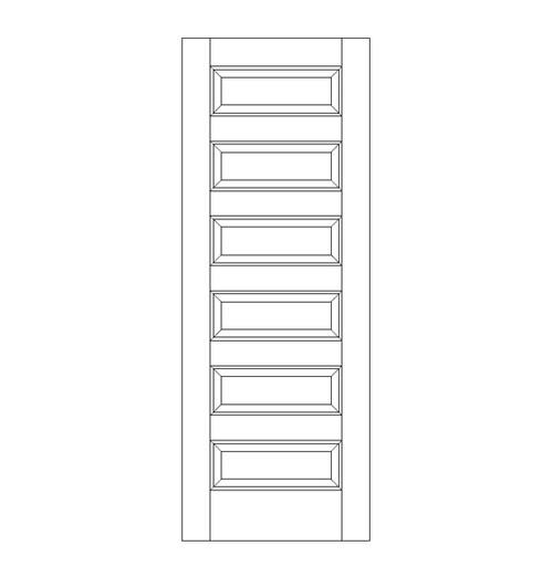 6-Panel Wood Door (DR6060)