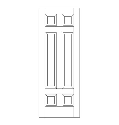 6-Panel Wood Door (DR6080)