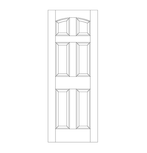 6-Panel Wood Door (DR6100)
