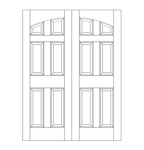 6-Panel Wood Door (DR6100CA)