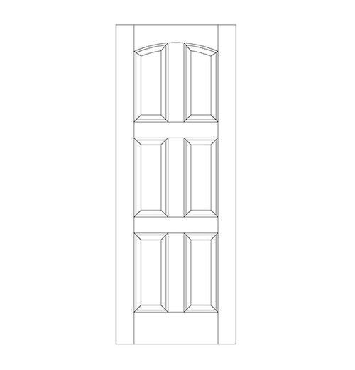 6-Panel Wood Door (DR6110)