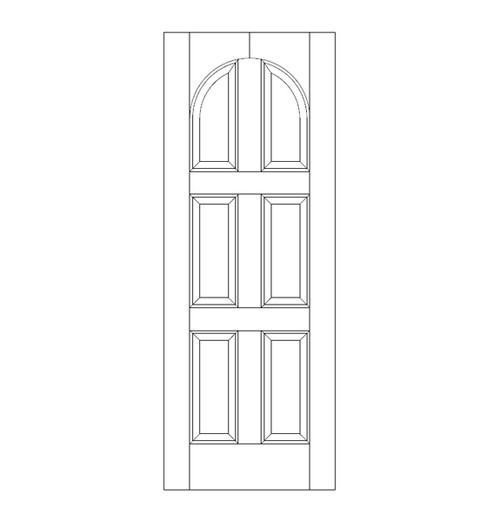 6-Panel Wood Door (DR6210)