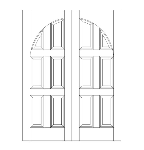 6-Panel Wood Door (DR6210CA)