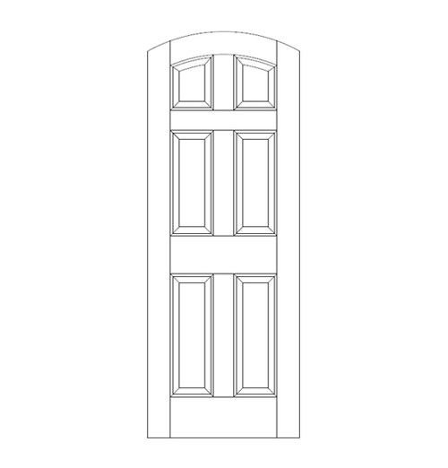 6-Panel Wood Door (DR6500)