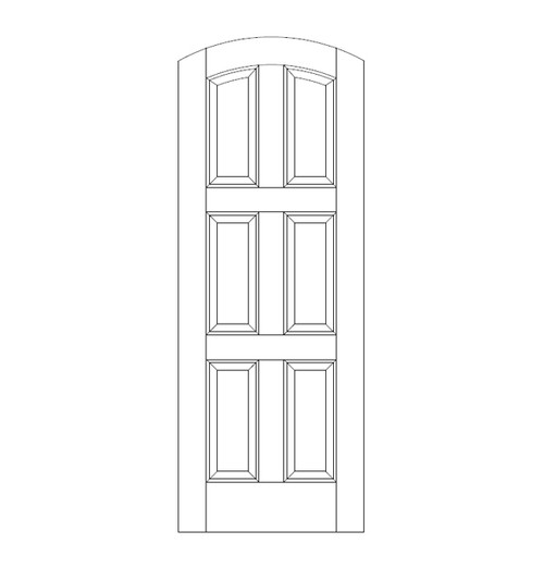 6-Panel Wood Door (DR6510)