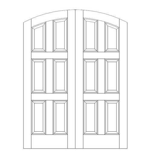 6-Panel Wood Door (DR6510CA)