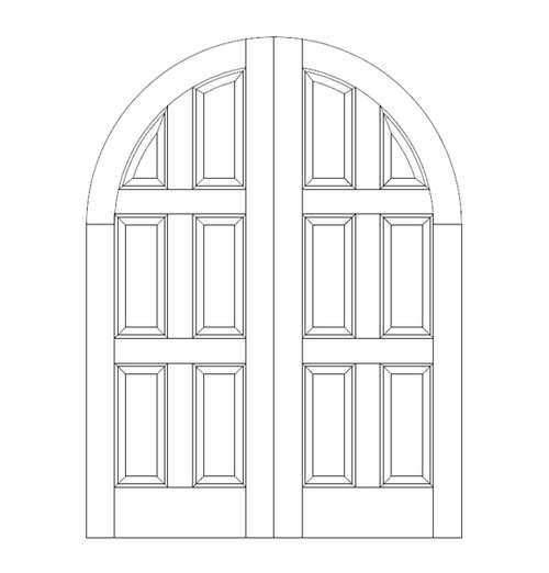 6-Panel Wood Door (DR6610CA)