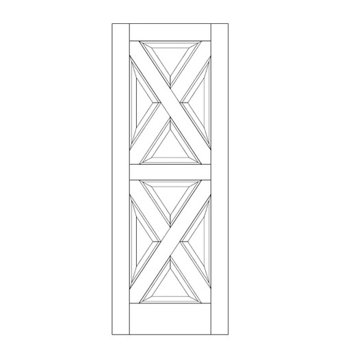 8-Panel Wood Door (DR8040)