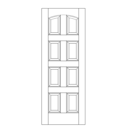 8-Panel Wood Door (DR8100)