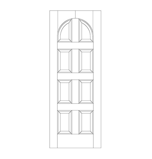 8-Panel Wood Door (DR8200)