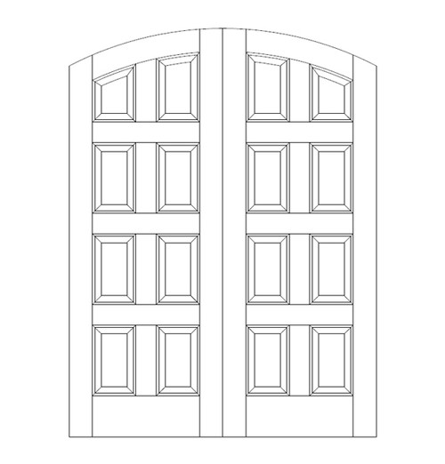 8-Panel Wood Door (DR8500CA)