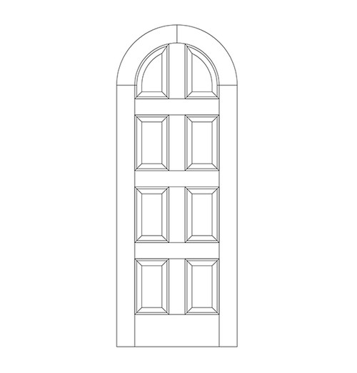8-Panel Wood Door (DR8600)