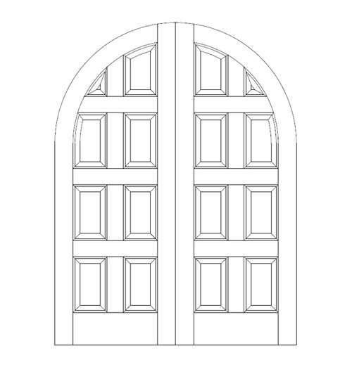 8-Panel Wood Door (DR8600CA)