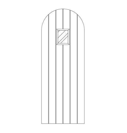 Plank Wood Door with Speakeasy (DP1600)