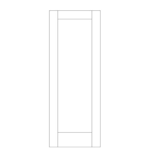 Flat Panel Wood Door (DM1000)