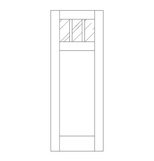 Flat Panel Wood Door (DM4010)