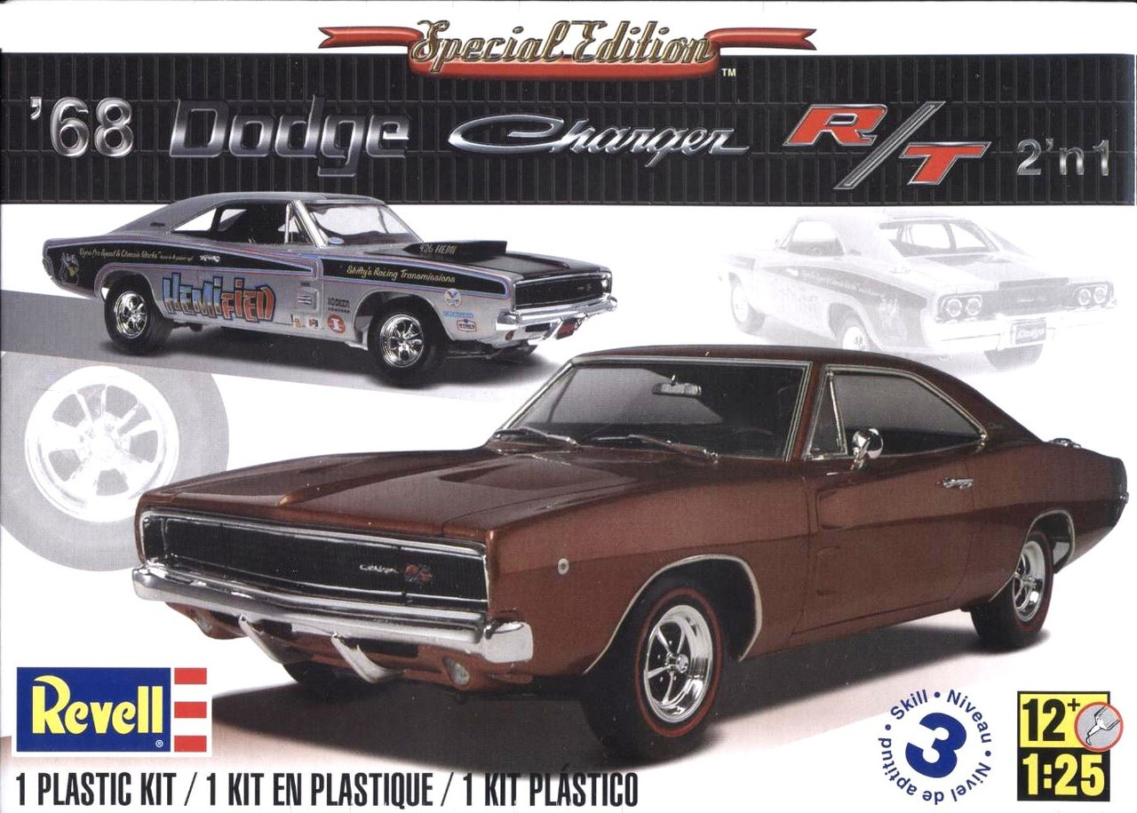 1968 Dodge Charger R T Special Edition 2n1 1 24 Revell Drag Car 2 In 25