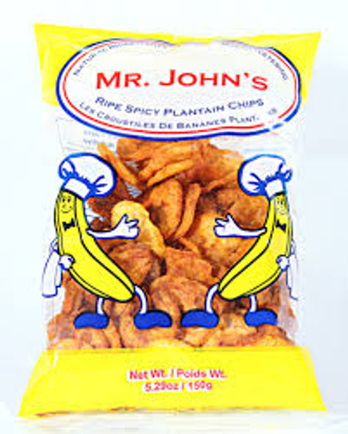 Mr. John's Spicy Plantain Chips 5.29 oz