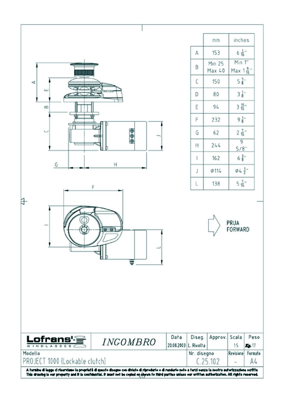 lofrans project 1000 capstan windlass vertical 12v rh seatechmarineproducts com muir winch solenoid wiring diagram ATV Winch Solenoid Wiring Diagram