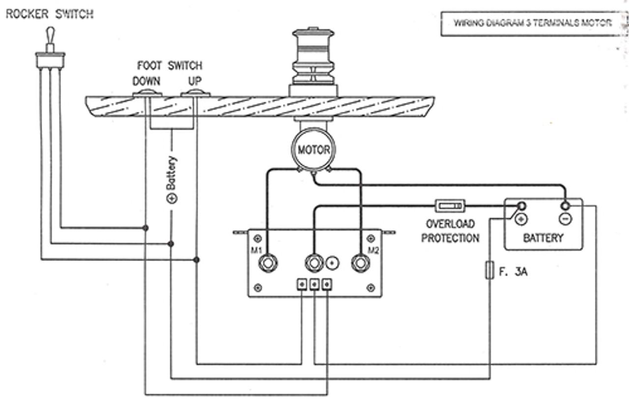 imtra watertight windlass control box 12 volt dc for 3 wire motors rh seatechmarineproducts com Jacuzzi Pump Parts Diagram Hot Water Circulating Pump Diagram