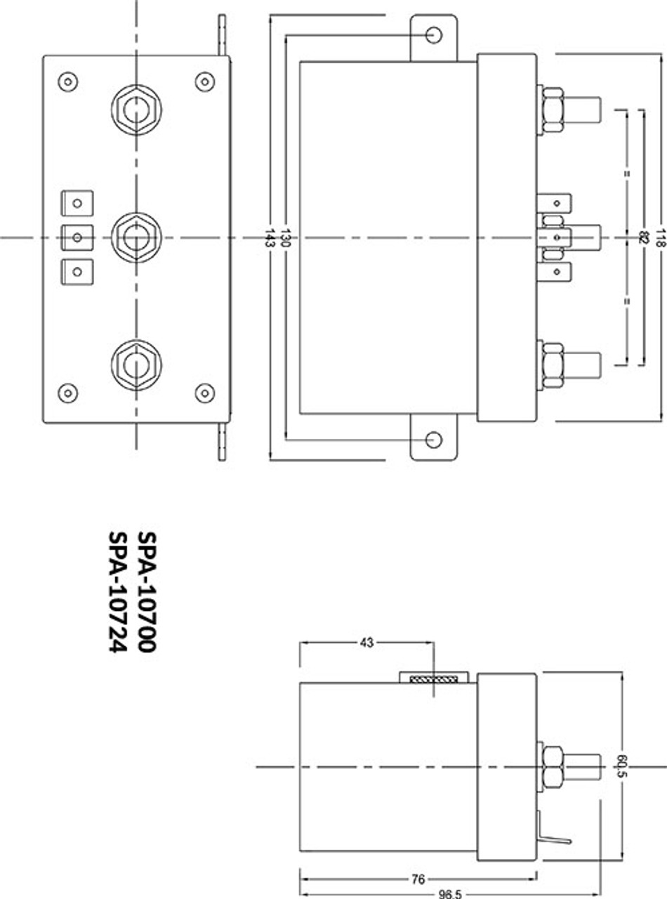 imtra watertight windlass control box 12 volt dc for 3 wire motors rh seatechmarineproducts com Hot Water Circulating Pump Diagram Pool Pump Switch Wiring Diagram