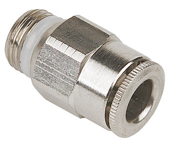 Straight Fitting, SS, 6mm OD x 1/4 BSPP/NPT