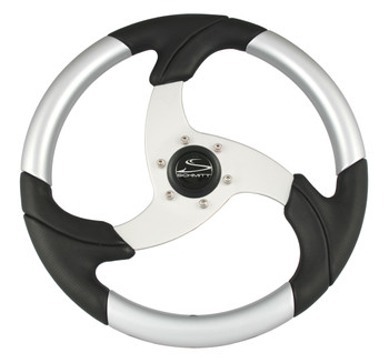 """FOLLETTO WHEEL - DECORATED INSERTS - 3/4"""" TAPERED SHAFT - INCLUDES BLACK PLASTIC CAP"""