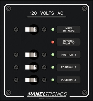 Paneltronics 9992313AC 3 Position Circuit Breaker Marine Panel w/ Main