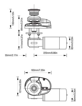 LW79010LP Dimensional Drawing / Sizing Diagram
