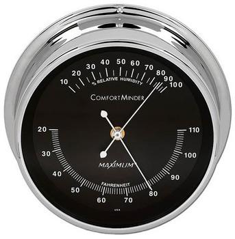 ComfortMinder – Chrome case, Black dial