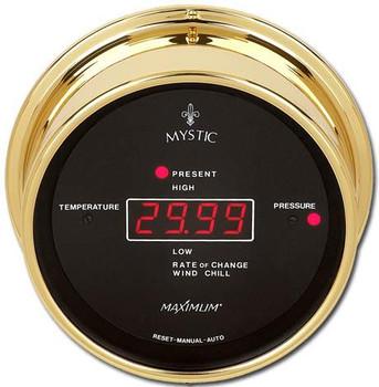 Wireless Mystic – Brass case, Black dial