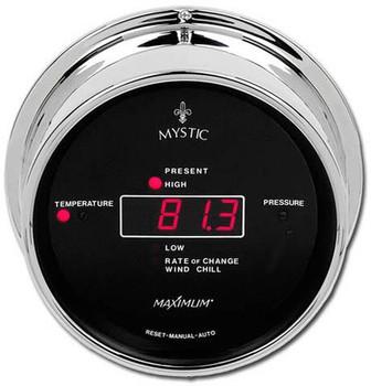Wireless Mystic – Chrome case, Black dial