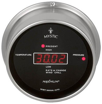 Wireless Mystic – Nickel case, Black dial