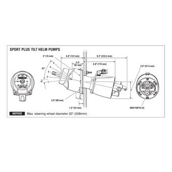 SeaStar HH6492-3 Sport Tilt 2.4 Hydraulic Boat Helm Pump