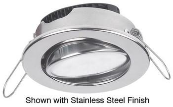 Imtra Captiva Eyeball ILIM31700 PowerLED Downlight - White Trim Ring Stainless Steel Warm White
