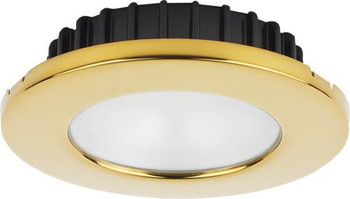"Imtra Hatteras PowerLED ILIM31319 - Cool White - PVD Gold Trim - Frosted Glass - 2.85"" 10-30VDC"